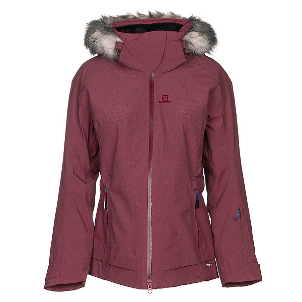 Salomon Weekend w/Faux Fur Womens Insulated Ski Jacket, , 600