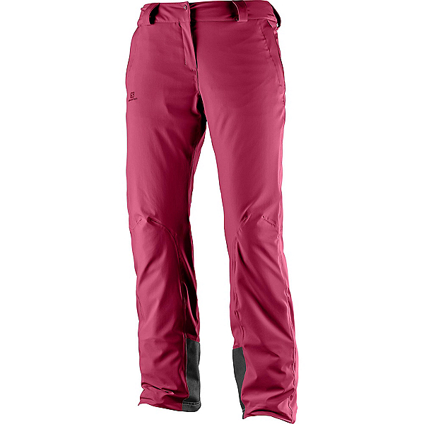 Salomon Icemania Womens Ski Pants, Beet Red, 600