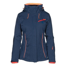 Salomon Fantasy Womens Insulated Ski Jacket, Medieval Blue Heather, 256