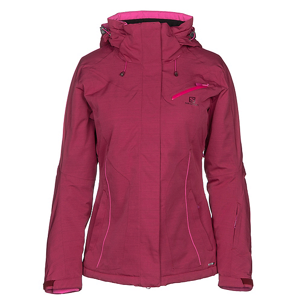 Salomon Fantasy Womens Insulated Ski Jacket, Beet Red Heather, 600