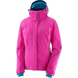 Salomon Brilliant Womens Insulated Ski Jacket, Rose Violet, 256