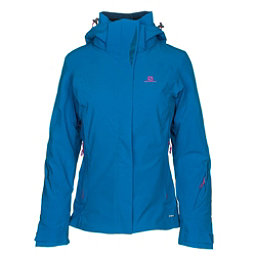 Salomon Brilliant Womens Insulated Ski Jacket, Sky Diver, 256