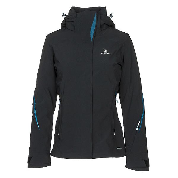 Salomon Brilliant Womens Insulated Ski Jacket, Black, 600