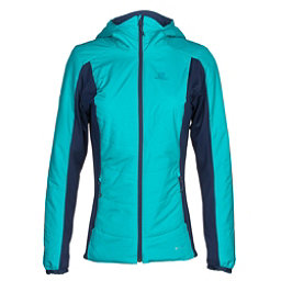Salomon Drifter Hoodie Womens Mid Layer, Blue Bird-Medieval Blue, 256