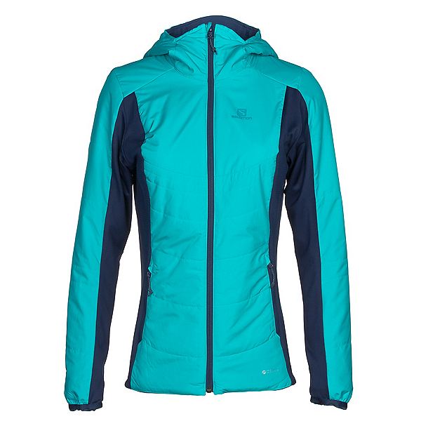 Salomon Drifter Hoodie Womens Mid Layer, Blue Bird-Medieval Blue, 600