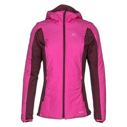 Salomon Drifter Hoodie Womens Mid Layer, Rose Violet-Fig, 256