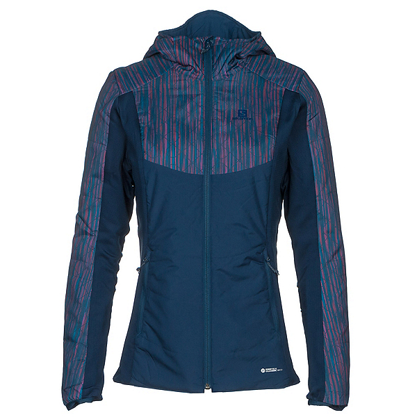 Salomon Drifter Hoodie Womens Mid Layer, Medieval Blue, 600