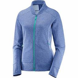 Salomon Right Nice FZ Womens Mid Layer, Medieval Blue, 256