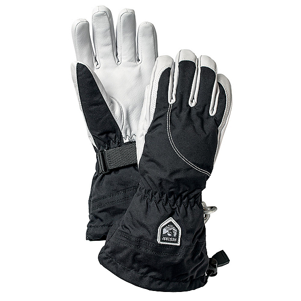 Hestra Heli Womens Gloves, Black-Off White, 600