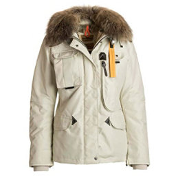 Parajumpers Denali Real Fur Womens Jacket, Chalk, 256