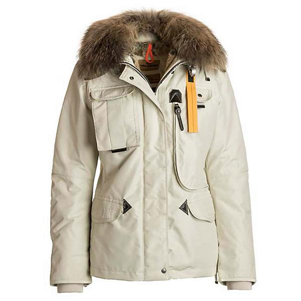 Parajumpers Denali Real Fur Womens Jacket, Chalk, 600