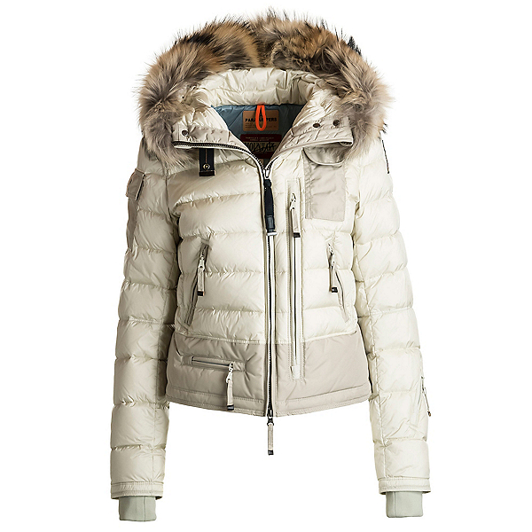 Parajumpers Skimaster Real Fur Womens Jacket, Chalk, 600