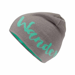The North Face Anders Beanie Kids Hat, Metallic Silver-Bermuda Green, 256