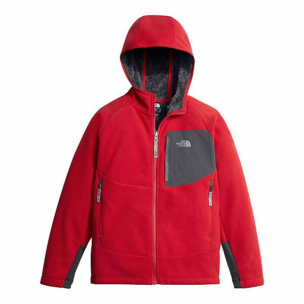 The North Face Chimborazo Kids Hoodie, TNF Red-Graphite Grey, 600