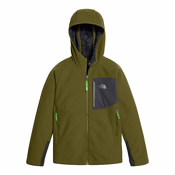 The North Face Chimborazo Kids Hoodie (Previous Season), Burnt Olive Green, 600