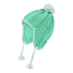 The North Face Fuzzy Earflap Beanie Kids Hat, Bermuda Green-Origin Blue, 256