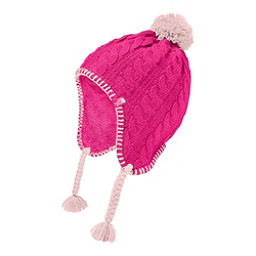 The North Face Fuzzy Earflap Beanie Kids Hat, Petticoat Pink-Purdy Pink, 256