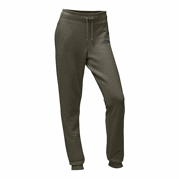 The North Face French Terry Womens Pants, Burnt Olive Green Heather-Asph, 600