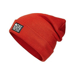 The North Face Dock Worker Beanie Hat, Tibetan Orange-Asphalt Grey, 256