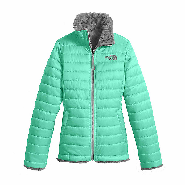 The North Face Reversible Mossbud Swirl Kids Jacket, Bermuda Green, 600
