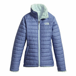 The North Face Reversible Mossbud Swirl Kids Jacket, Bright Navy White Heather, 256