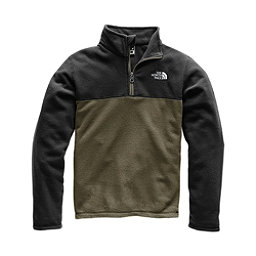 The North Face Glacier 1/4 Zip Kids Midlayer, New Taupe Green, 256