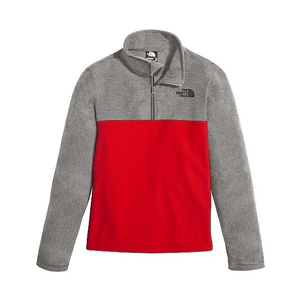 The North Face Glacier 1/4 Zip Kids Midlayer (Previous Season), TNF Red-TNF Medium Grey Heathe, 600