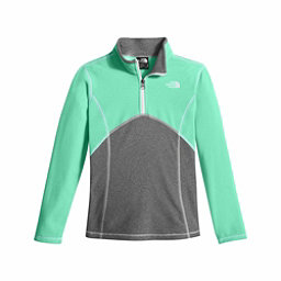 The North Face Glacier 1/4 Zip Girls Kids Midlayer, Bermuda Green, 256