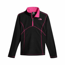 The North Face Glacier 1/4 Zip Girls Kids Midlayer, TNF Black-Multi Color, 256