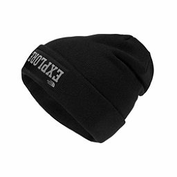 The North Face Dock Worker Beanie Kids Hat, TNF Black-Mid Grey, 256