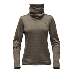 The North Face Novelty Glacier Pullover Womens Mid Layer, New Taupe Green Stria, 256