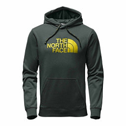 The North Face Surgent Half Dome Pullover Mens Hoodie, Darkest Spruce Heather-Acid Ye, 256