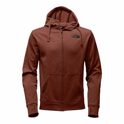 The North Face Surgent LFC Full Zip Mens Hoodie, Ketchup Red Heather-Asphalt Gr, 256