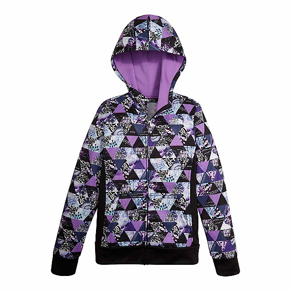 The North Face Surgent Full Zip Kids Hoodie (Previous Season), Bellflower Purple Triangle Pri, 600