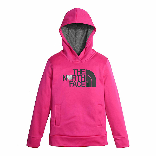 The North Face Girls Surgent Pullover Kids Hoodie, Petticoat Pink, 600