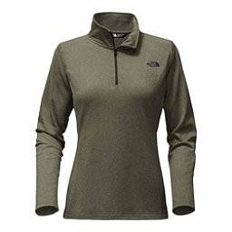 The North Face Tech Glacier 1/4 Zip Womens Mid Layer, New Taupe Green Heather, 256