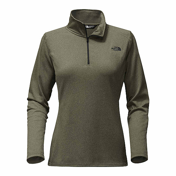 The North Face Tech Glacier 1/4 Zip Womens Mid Layer, New Taupe Green Heather, 600