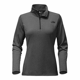 The North Face Tech Glacier 1/4 Zip Womens Mid Layer, TNF Dark Grey Heather-TNF Blac, 256