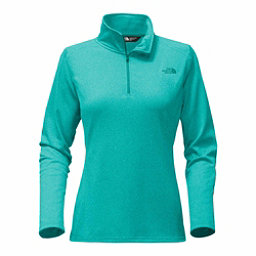 The North Face Tech Glacier 1/4 Zip Womens Mid Layer, Harbor Blue Heather, 256