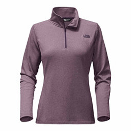 The North Face Tech Glacier 1/4 Zip Womens Mid Layer, Black Plum Heather, 256
