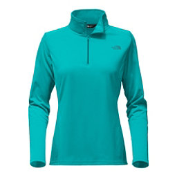 The North Face Tech Glacier 1/4 Zip Womens Mid Layer, Mint Blue, 256