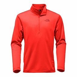 The North Face Tech Glacier 1/4 Zip Mens Mid Layer, Centennial Red, 256
