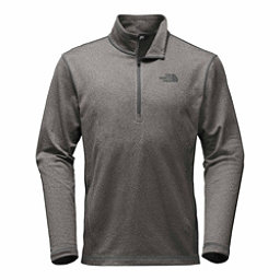 The North Face Tech Glacier 1/4 Zip Mens Mid Layer, TNF Medium Grey Heather, 256
