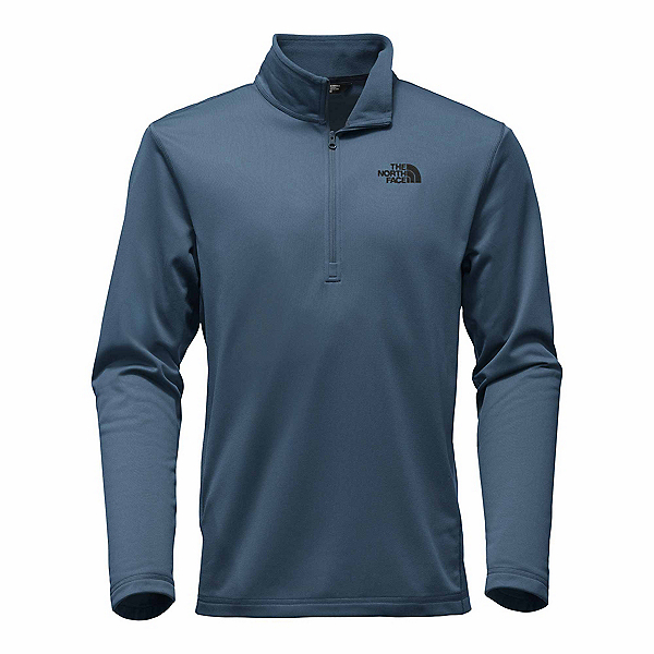 The North Face Tech Glacier 1/4 Zip Mens Mid Layer, Shady Blue, 600