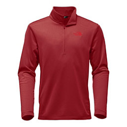 The North Face Tech Glacier 1/4 Zip Mens Mid Layer, Rage Red, 256