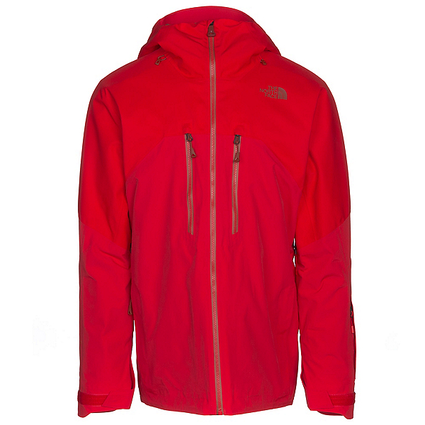 The North Face Powder Guide Mens Insulated Ski Jacket, Centennial Red, 600