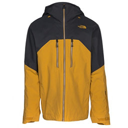 The North Face Powder Guide Mens Insulated Ski Jacket, Arrowwood Yellow-Asphalt Grey, 256