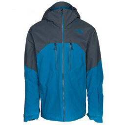 The North Face Powder Guide Mens Insulated Ski Jacket, Brilliant Blue-Turbulence Grey, 256