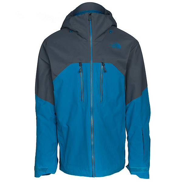 The North Face Powder Guide Mens Insulated Ski Jacket, Brilliant Blue-Turbulence Grey, 600