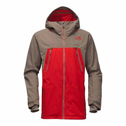 The North Face Lostrail Mens Shell Ski Jacket, Centennial Red-Falcon Brown, 256